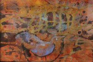 30x20 Naturens stemninger, akryl og kul på lærred