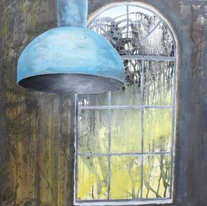 Lampe ved vindue