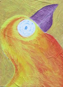 Orange fugl